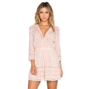 Tularosa Payton 3/4 Sleeve Cotton Mini Dress